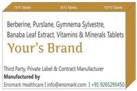 Berberine Purslane Gymnema Sylvestre Banaba leaf extract Vitamins & Minerals Tablets