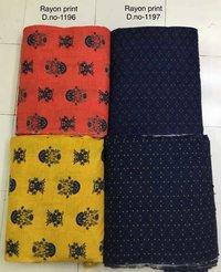 Designer Rayon Printed Fabric