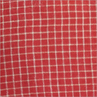 Check Red Fabric 200C