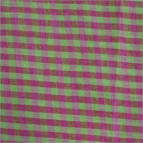 Cotton Check Printed Shirt Fabric 200C