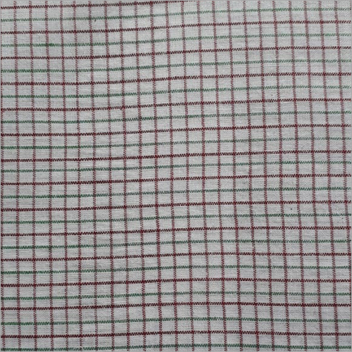 200C White Check Shirt Fabric