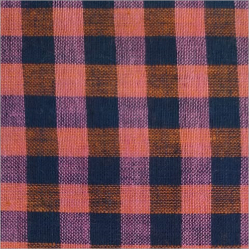 200C Red Check Cotton Fabric
