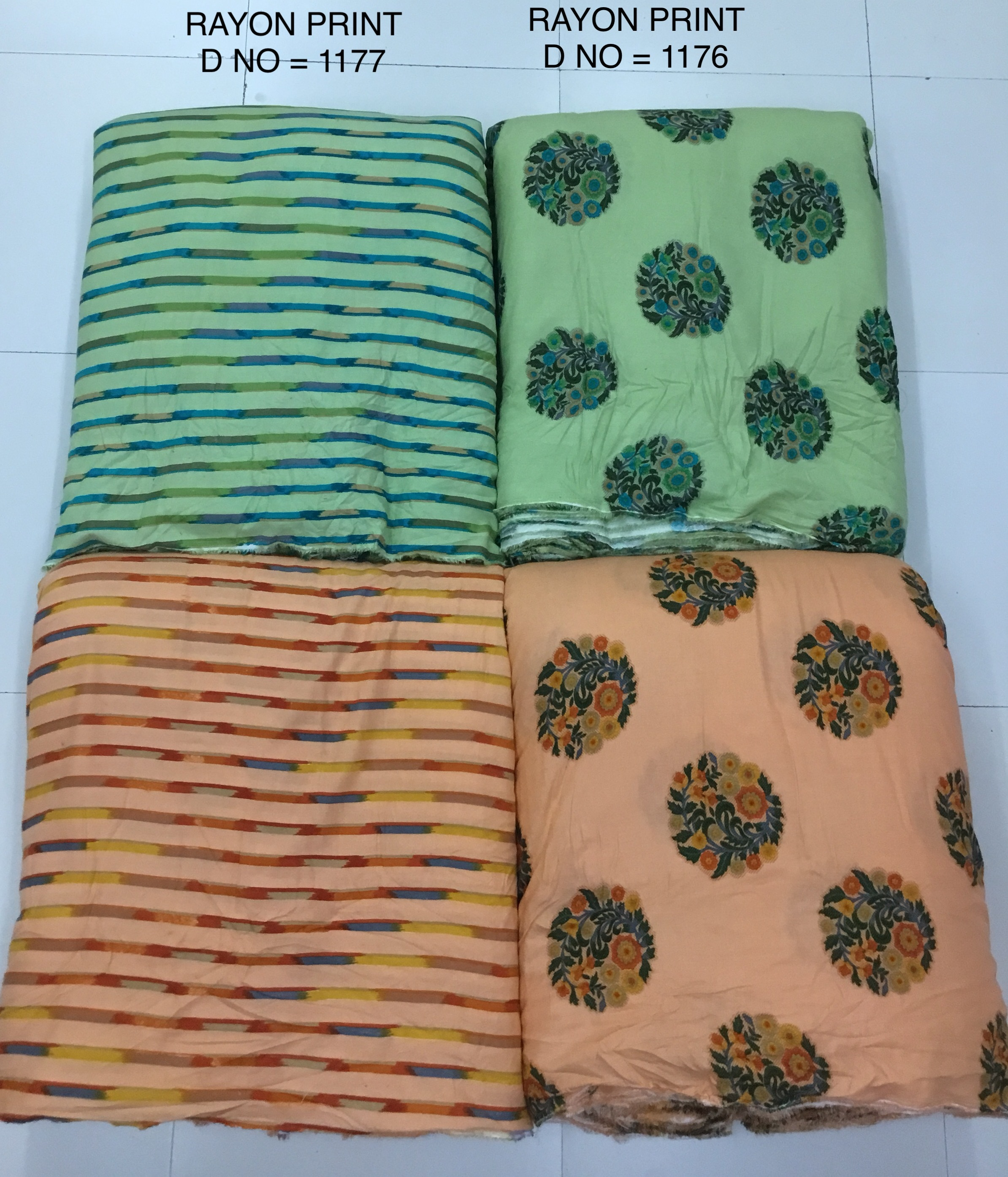 Floral Rayon Printed Fabric