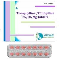 Theophylline 35 Mg Etophylline 115 Mg Tablets
