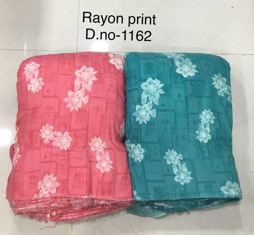 Rayon printed fabric 44 inches