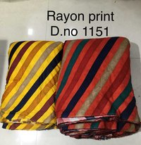 Latest Rayon Printed Fabric