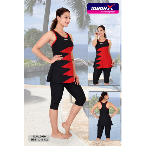 Sleeveless Ladies Swimming Costume