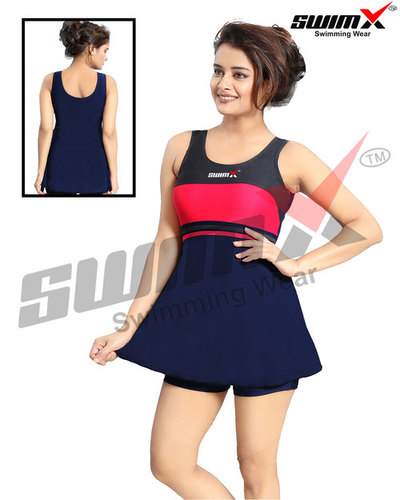 Ladies Frock Style Swimming Costume