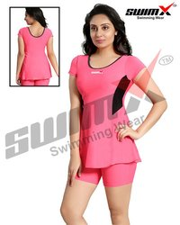 Ladies Half-Sleeve Swimming Costume