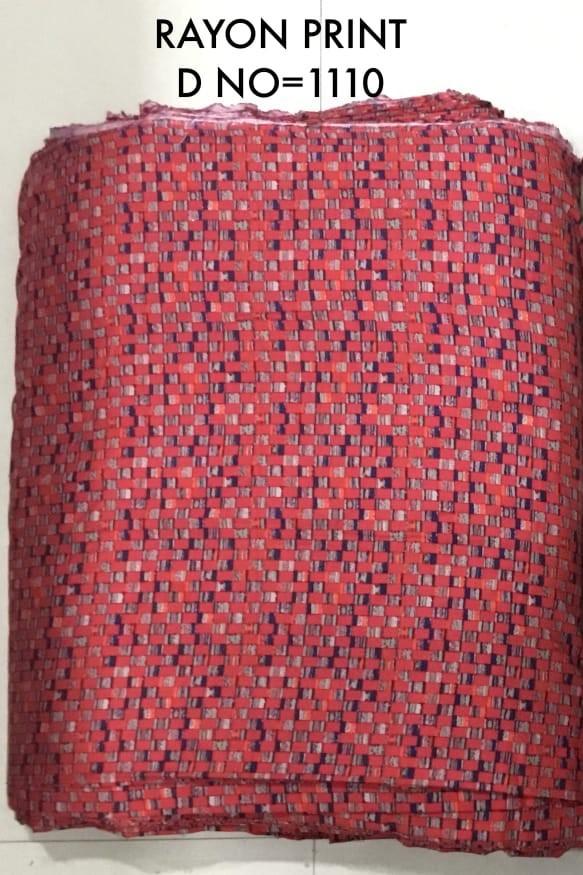 Single Rayon printed fabric