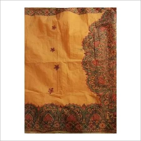 madhubani painted silk saree