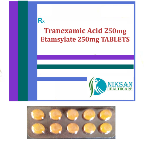 Tranexamic Acid 250Mg Etamsylate 250Mg Tablets