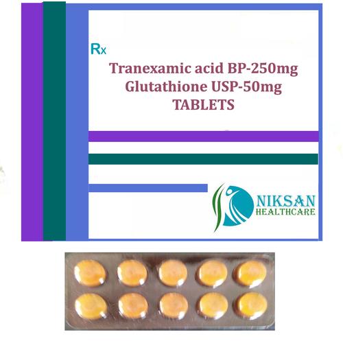 Tranexamic Acid Bp-250Mg Glutathione Usp-50Mg Tablets