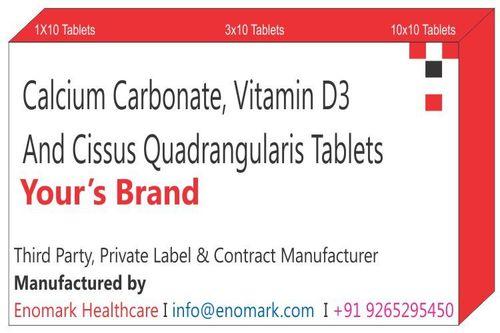 Calcium Carbonate Vitamin D3  Cissus Quadrangularis Tablets