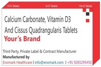 Calcium Carbonate Vitamin D3  Cissus Quadrangularis Tablets