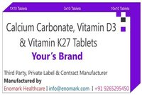 Calcium Carbonate Vitamin d3 Vitamin K27 Tablets