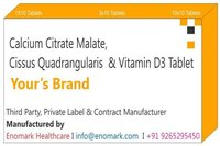 Calcium Citrate Malate Cissus Quadrangularis  Vitamin D3Tablet