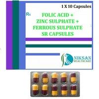 Folic Acid Zinc Sulphate Ferrous Sulphate Sr Capsules Zinc Sulphate Ferrous Sulphate Sr Capsules