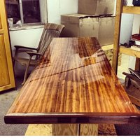 wooden table top epoxy resin finish