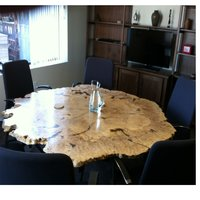Crystal clear resin wooden logs table top round  Wooden Table Top Epoxy Resin Finish High Quality all size