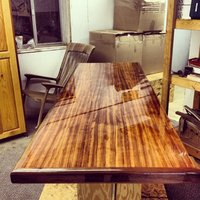 Bar table top natural wooden resin glossy finish available in ll sizes