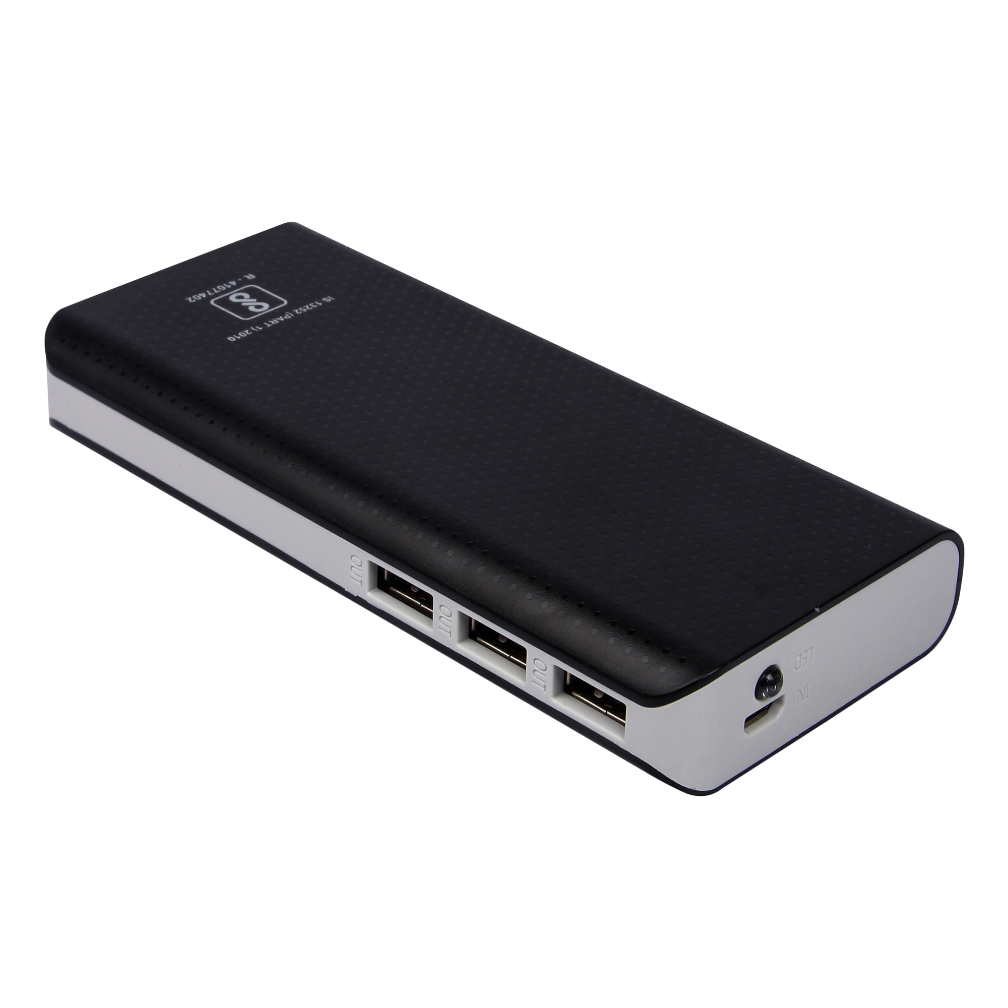 10000 Mah Lithium -ion  3 out put  PB10 Bluei powerbank