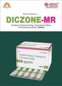 Diclofenac Pot. 50mg + Paracetamol 325mg + Chlorzoxazone 250mg