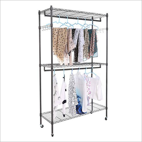 3 Shelves Clothes Display Rack