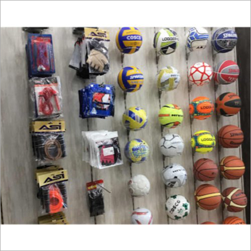 Wood And Steel Wall Mounted Sports Display Fixture