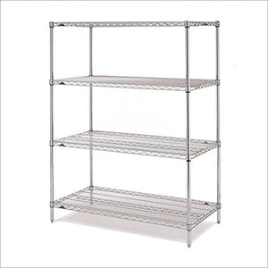 SS 4 Tier Wire Rack