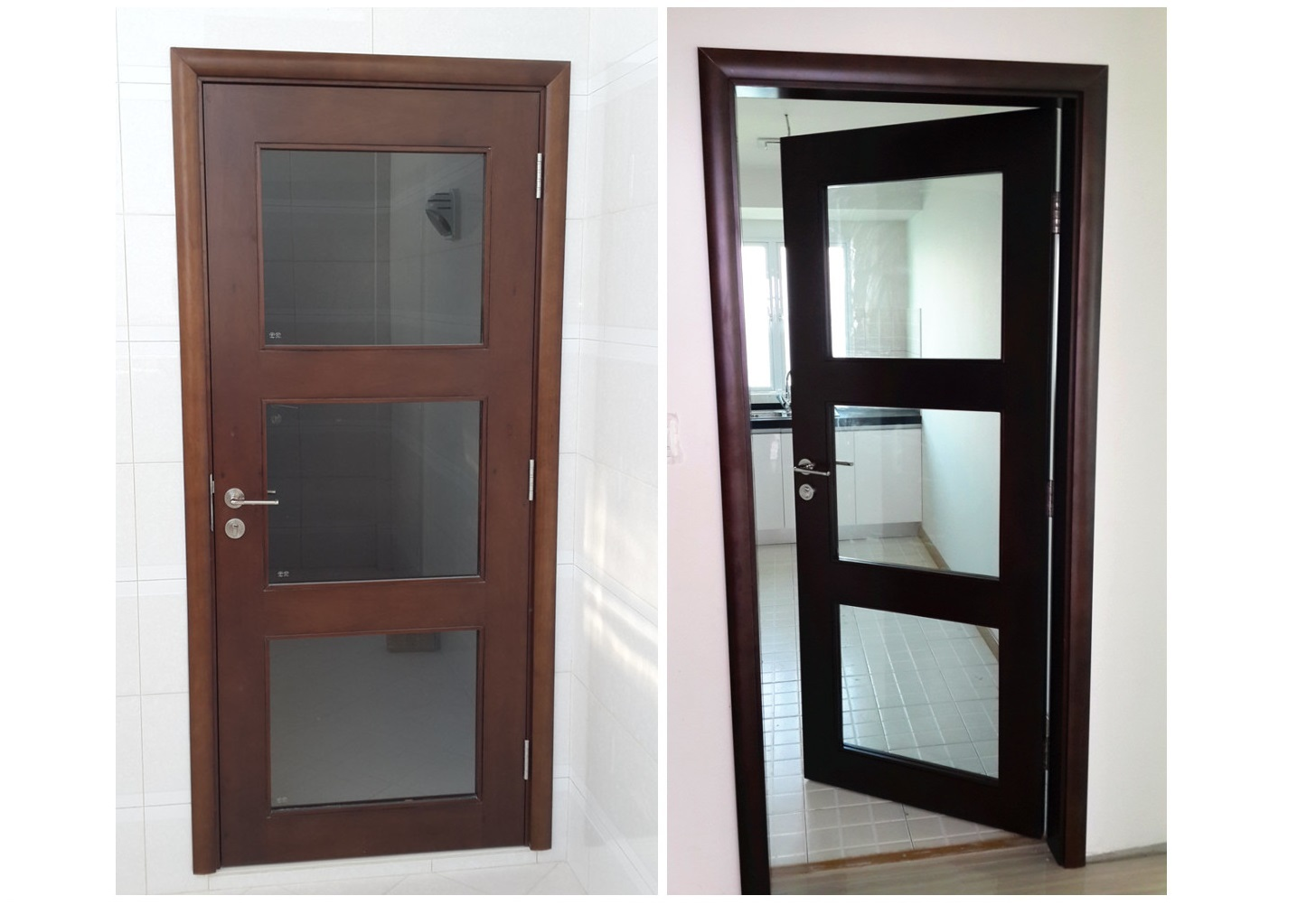 Residence Wooden Glass Door