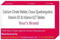 Calcium Citrate Malate Cissus Quadrangularis Vitamin D3 Vitamin K27 Tablets