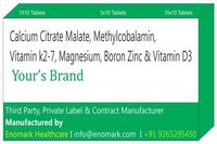 Calcium Citrate Malate Methylcobalamin Vitamin k2-7 Magnesium Boron Zinc and Vitamin D3