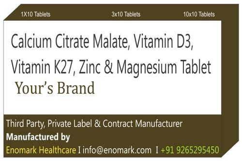 Calcium Citrate Malate Vitamin D3 Vitamin K27 Zinc Magnesium Tablet
