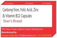 Carbonyl Iron Folic Acid Zinc Vitamin B12 Capsules