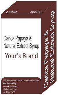 Carica papaya and Natural Extract syrup