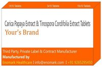 carica papaya extract tinospora cordifolia extract tablets