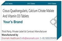 Cissus Quadrangularis Calcium Citrate Malate and Vitamin D3 tablets