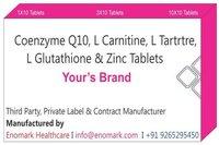 Coenzyme Q10 L Carnitine L Tartrtre L Glutathione Zinc Tablets