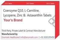 Coenzyme Q10L-CarnitineLycopeneZincAstaxanthin