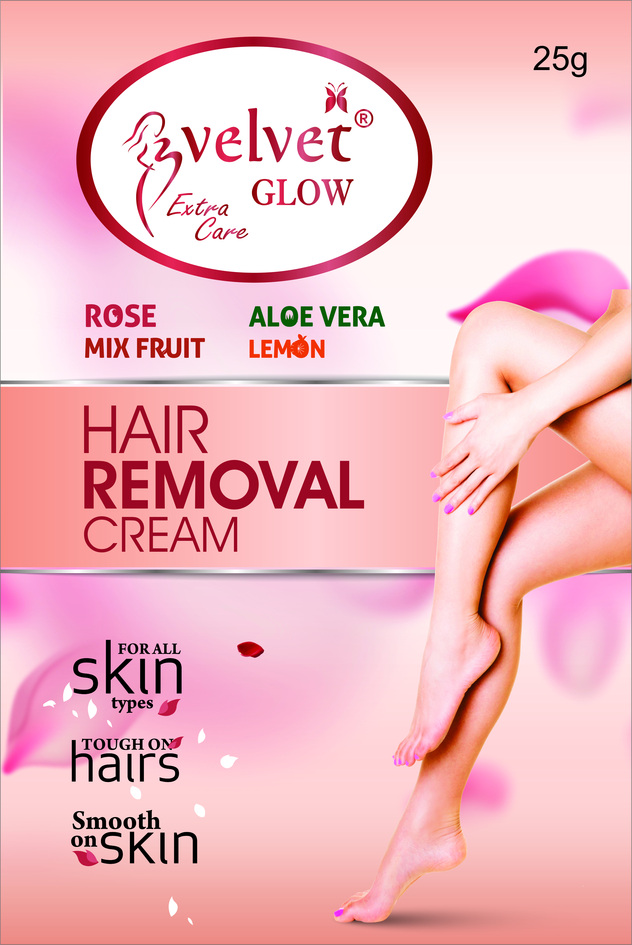 Velvet Glow  Hair Removal Cream(Lemon)