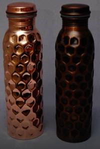 Copper Hammered Bottle