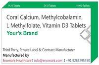 Coral Calcium Methylcobalamin L Methylfolate Vitamin D3 Tablet