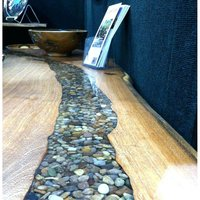 wooden resin stone clear table top for hotel and home