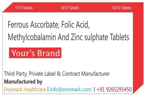Ferrous Ascorbate Folic acid methylcobalamin and zinc sulphate tablets