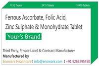 Ferrous Ascorbate Folic Acid Zinc Sulphate Monohydrate Tablet