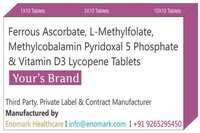 Ferrous Ascorbate L-methylfolate Methylcobalamin Pyridoxal 5 Phosphate Vitamin D3 Lycopene