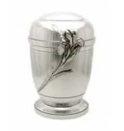 Beautiful Metal Cremation Urns with Red Flower