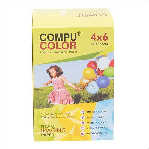 COMPU COLOR Photo Imaging Paper Glossy 265 gsm (4x6 inches) 400 sheets