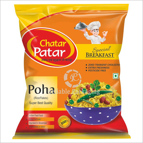 Laminated Poha Packaging Pouches